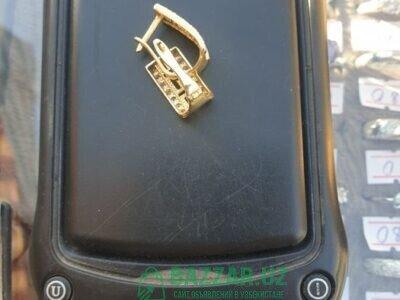 Продаются золотые сережки