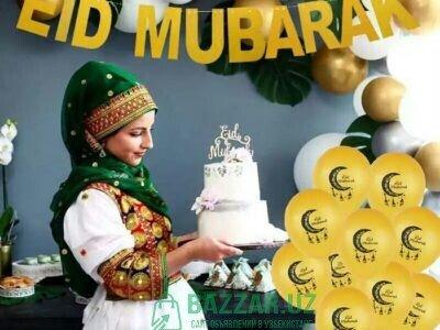 Декоративные воздушные шары EID Mubarak