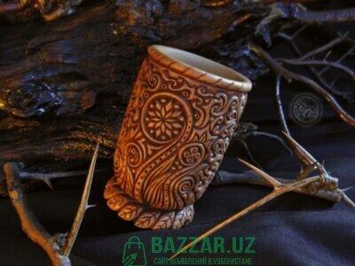 Чарка из дерева ручной работы