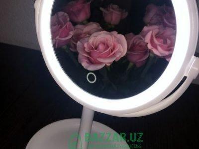 Зеркало с подцветкой круглое