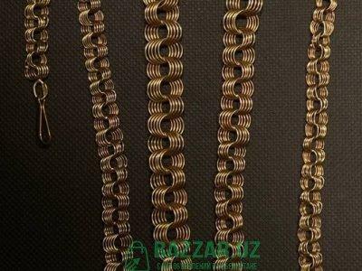 Заводской золотой цеп по 430 тыс. сум 1 грамм. Вес