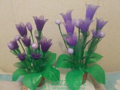 Ручная работа цветы из капрона