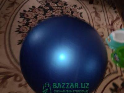 Фитбол мячик синий