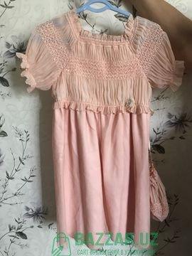 Платье на девочку 5-6 лет б-у 50 .000сум