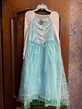 Поющее платье Эльзы оригинал Disney! Размер: 7-9 л