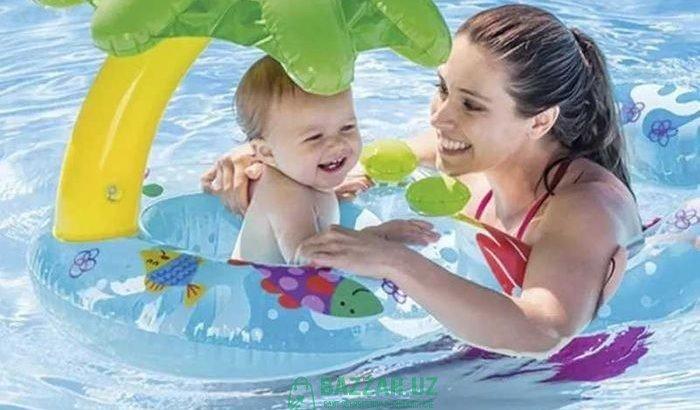 Безопасное надувное кольцо Mom Kids, мат и ребенок