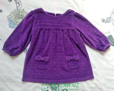 Бархатное платье на 6-9 месяцев