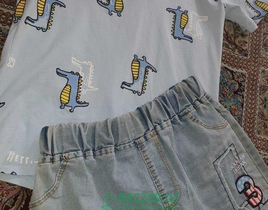 Костюмчик финка шорты джинсовые на мальчика 6-7 ле