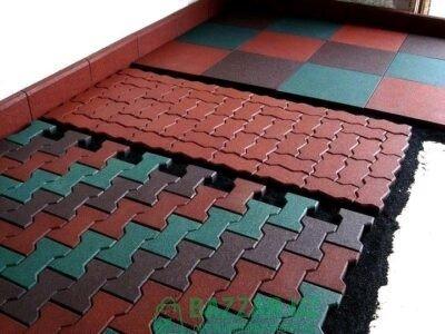 Резиновое плиточное покрытие