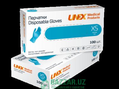 Нитровиниловы перчатки UNEX