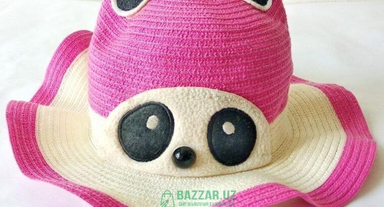 Детская шляпка-кошечка, на возраст до 2 лет