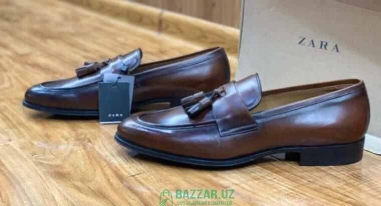 Zara Spain Loafers мужские кожаные лоферы