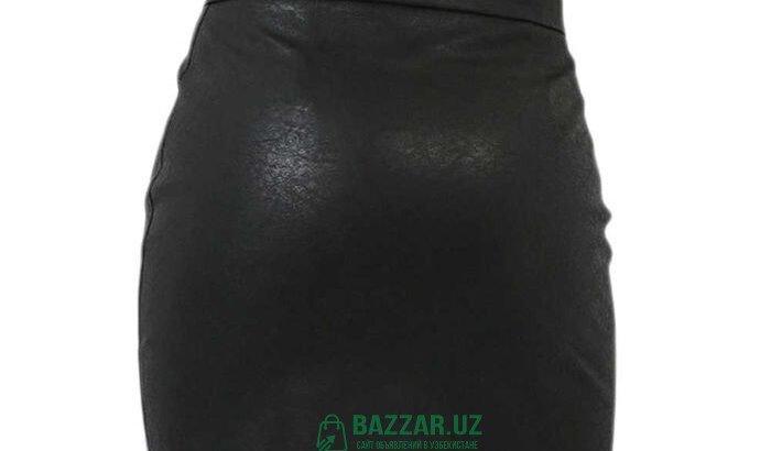 Кожанная мини-юбка