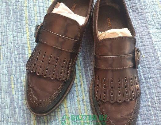 Туфли лофферы кожаные GEOX