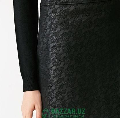 Стильная кожаная юбка, размер С